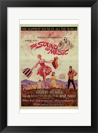 Framed Sound of Music Dancing Print