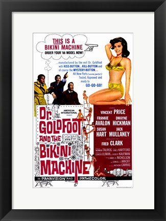 Framed Doctor Goldfoot and the Bikini Machine Print