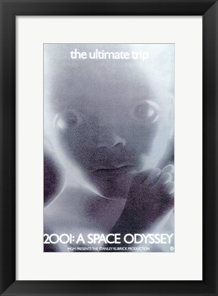 Framed 2001: a Space Odyssey Fetus Print