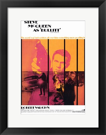 Framed Bullitt Pop Robert Vaughn Print