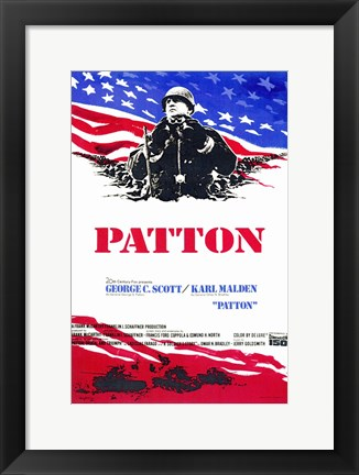 Framed Patton - red, white, blue Print