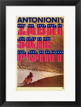 Framed Zabriskie Point Antonioni Print