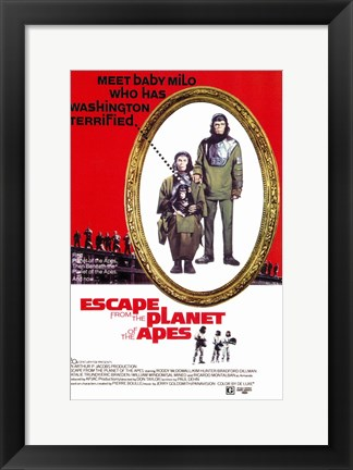 Framed Escape from the Planet of the Apes Print