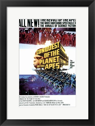 Framed Conquest of the Planet of the Apes Print