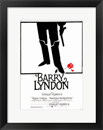 Framed Barry Lyndon - red rose Print