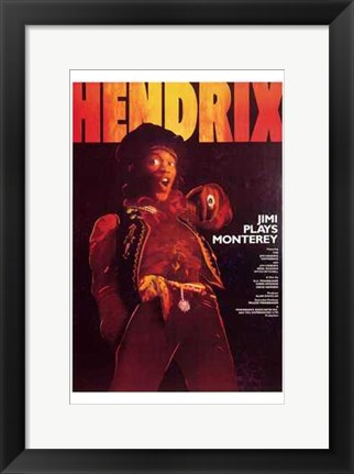 Framed Jimi Plays Monterey Print