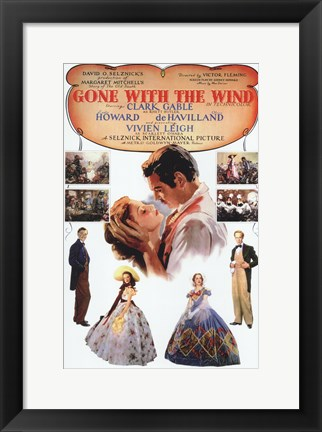 Framed Gone with the Wind Vintage Poster Print