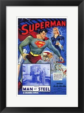 Framed Superman Man of Steel Print
