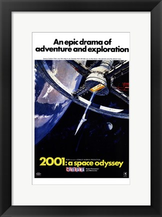 Framed 2001: a Space Odyssey An Epic Drama Print
