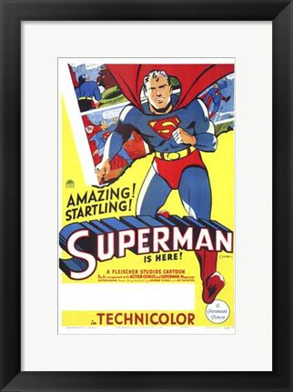 Framed Superman Amazing & Startling! Print