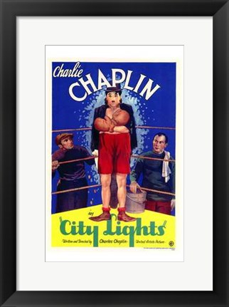 Framed City Lights - Charlie Chaplin Print