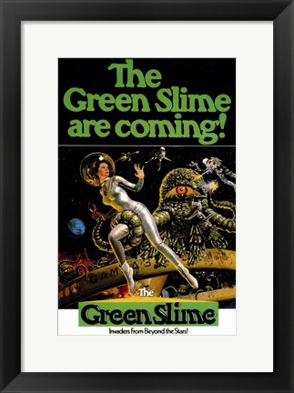 Framed Green Slime Print