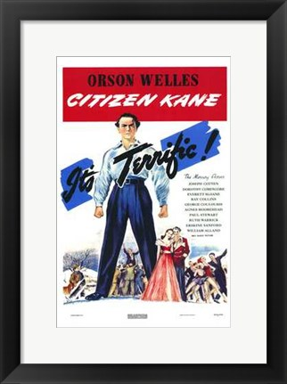 Framed Citizen Kane It's Terrific Print