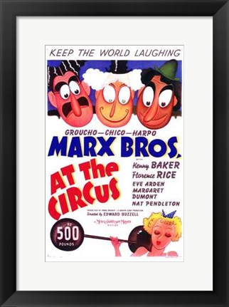 Framed At the Circus Print