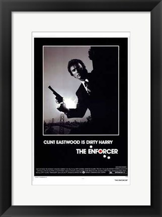 Framed Enforcer Clint Eastwood is Dirty Harry Print