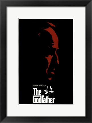 Framed Godfather Red Profile With Boarder Print