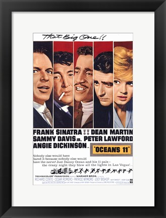 Framed Oceans 11 That Big One Print