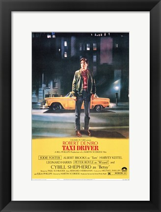 Framed Taxi Driver Movie Print