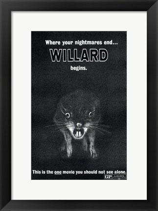Framed Willard Featuring Ben The Rat Print