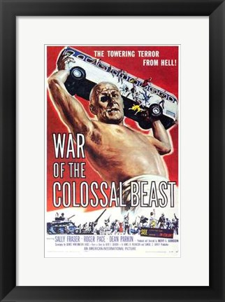 Framed War of the Colossal Beast Print