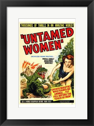 Framed Untamed Women Print