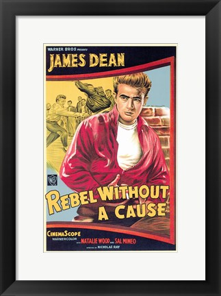 Framed Rebel Without a Cause James Dean Print