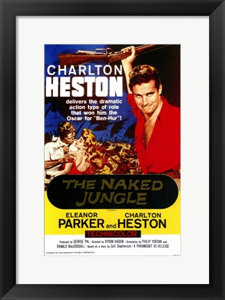 Framed Naked Jungle Charleton Heston Print