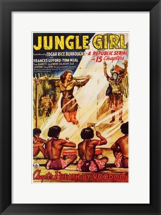Framed Jungle Girl Print
