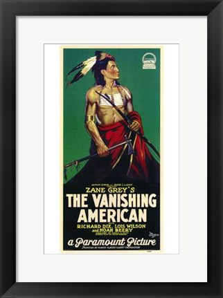 Framed Vanishing American - Tall Print