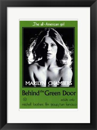 Framed Behind the Green Door Print
