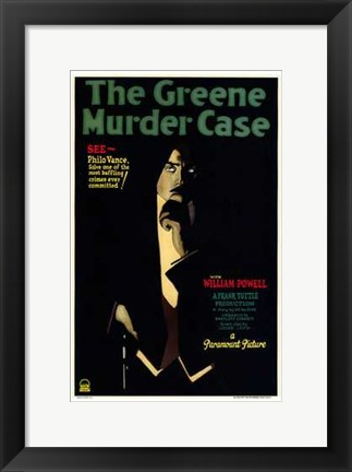 Framed Greene Murder Case Print