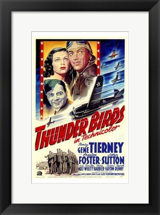 Framed Thunder Birds Print