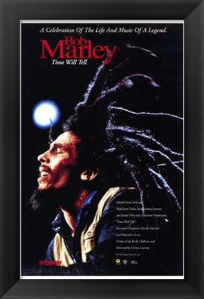 Framed Bob Marley Time Will Tell Print