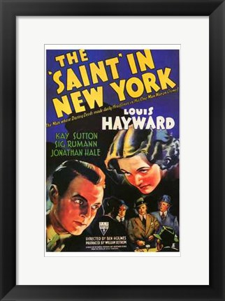 Framed Saint in New York Print