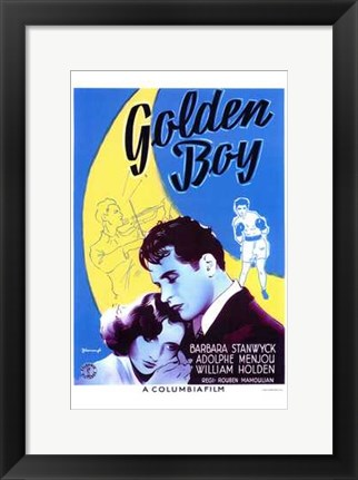 Framed Golden Boy Print