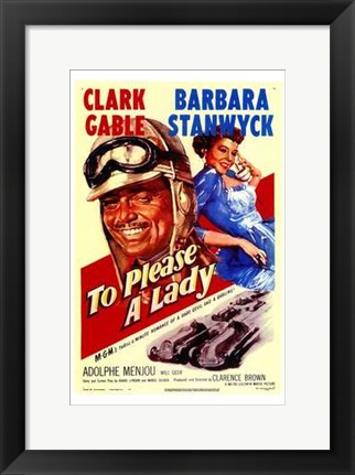 Framed to Please a Lady (movie poster) Print