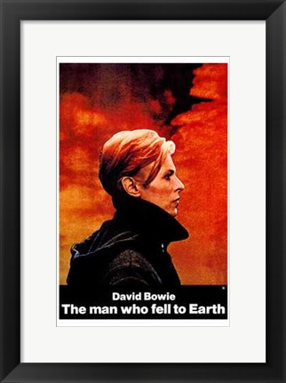 Framed Man Who Fell to Earth Side View Print