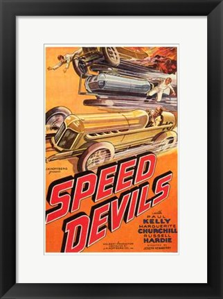 Framed Speed Devils Print