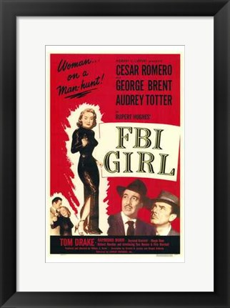 Framed Fbi Girl Print