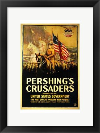 Framed Pershing's Crusaders Print