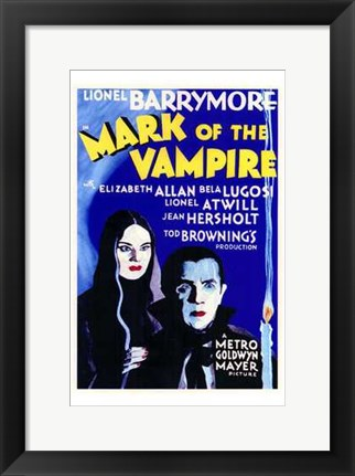 Framed Mark of the Vampire - Blue Print