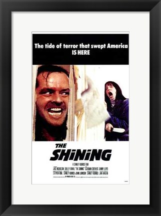 Framed Shining - the tide of terror that swept America is here Print