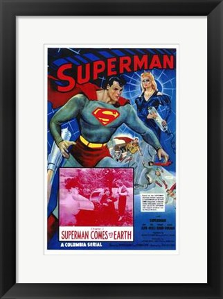 Framed Superman Comes to Earth Print
