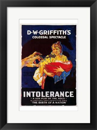 Framed Intolerance D W Griffith Print
