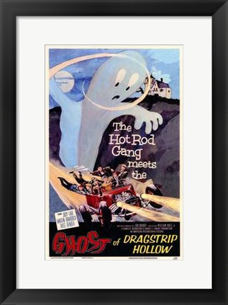 Framed Ghost of Dragstrip Hollow Print