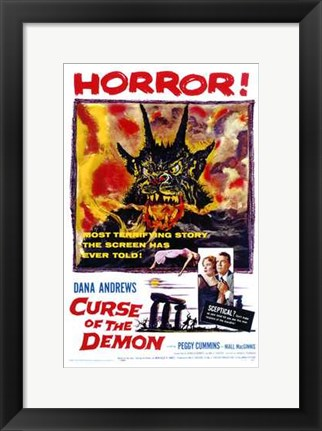 Framed Curse of the Demon Print