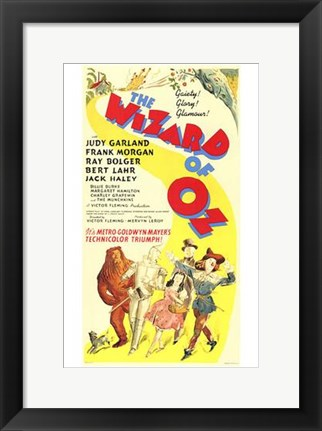 Framed Wizard of Oz Yellow Print