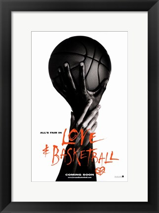 Framed Love and Basketball Print