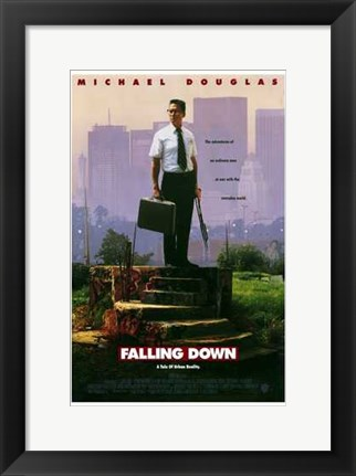 Framed Falling Down Print