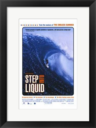 Framed Step Into Liquid Print